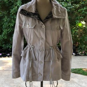 Betsey Johnson lace embellished peplum jacket